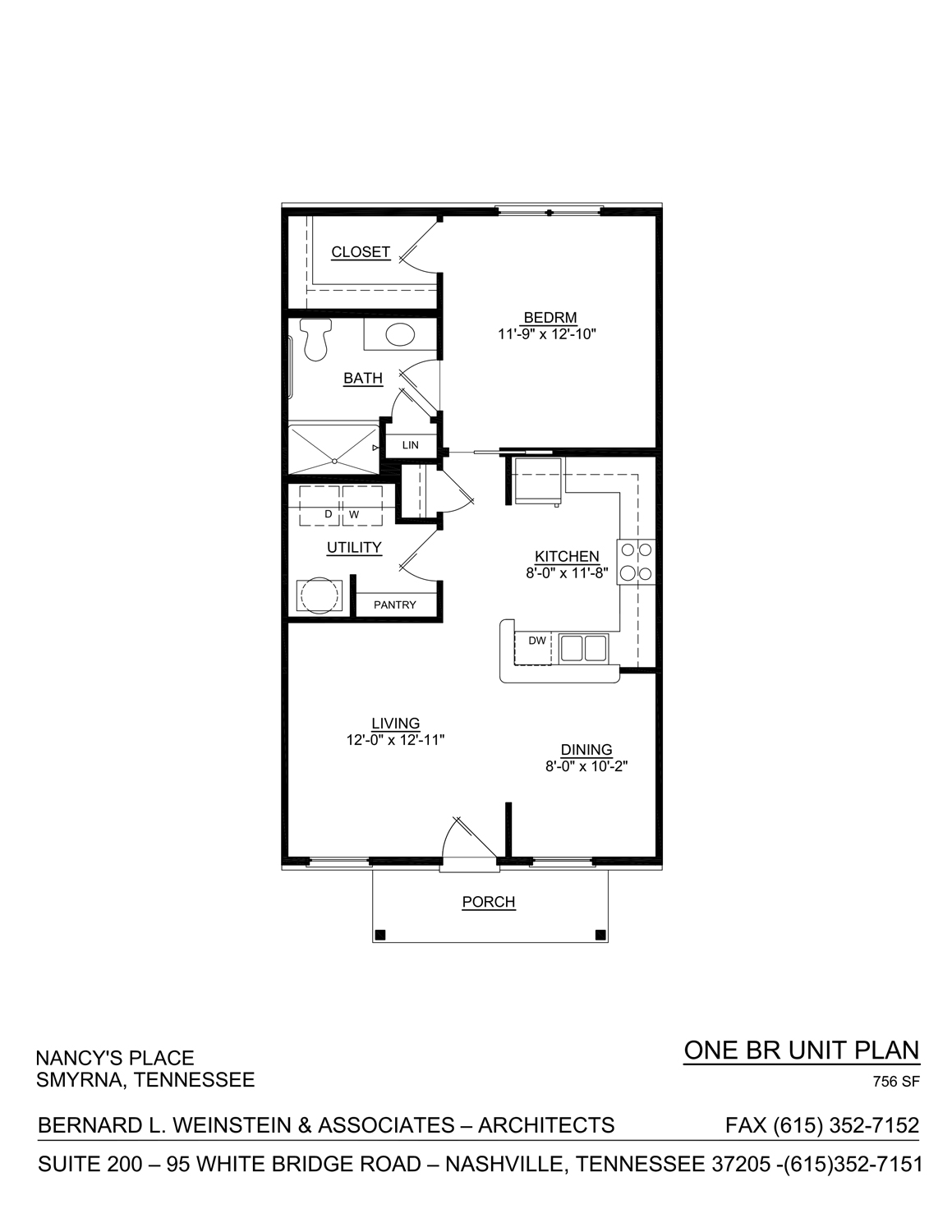 one bedroom nancy's place layout